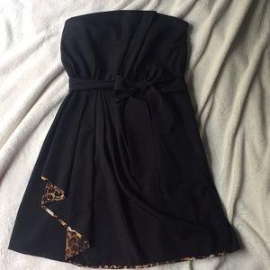 Sale! Express, size 6, black/leopard print dress